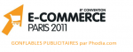 Publicité gonflable au salon E-Commerce 2011