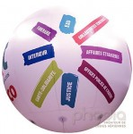 Ballon pub avec total covering