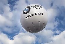 ballon hélium BMW mini