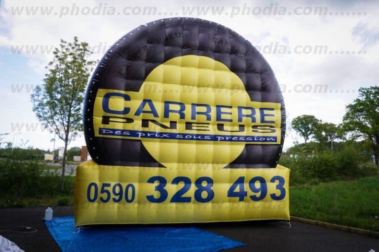 structure gonflable géante en forme de pneu 5m