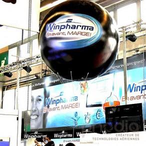 Ballon géant gonflable à l'hélium : 2m en PVC