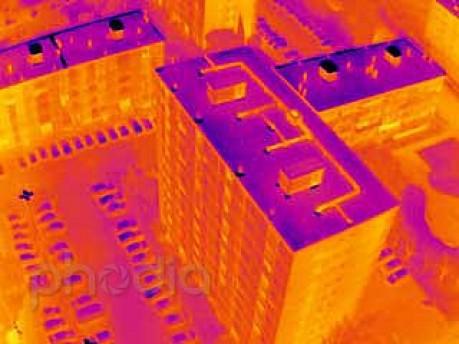 Thermographie : Réseau de chauffage d'HLM